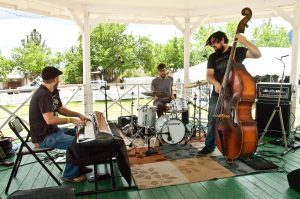 Musicians in the gazebo
